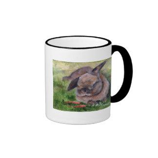 Sueños del conejito taza de dos colores