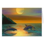 Sueños del delfín tarjetón