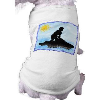 Sueños del esquí del jet camisa de perro
