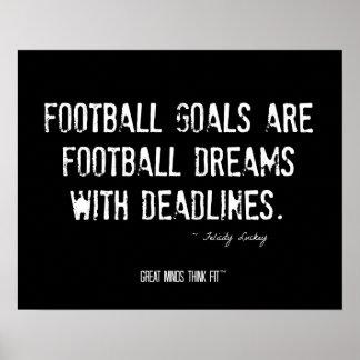 Sueños del fútbol al poster de las metas