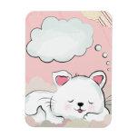 Sueños del gato con las nubes pintadas texturas iman
