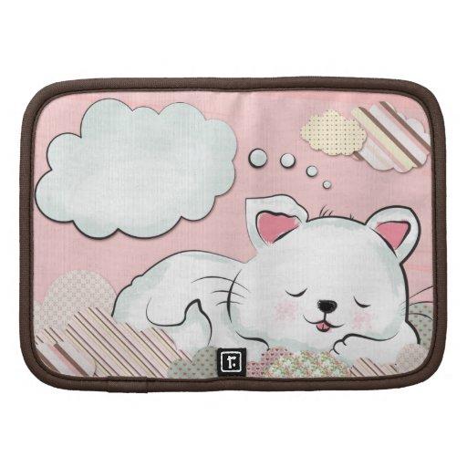 Sueños del gato con las nubes pintadas texturas planificadores