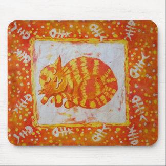 Sueños del gato de pescados tapete de ratón