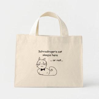 Sueños del gato de Schrodinger aquí… Bolsa De Tela Pequeña