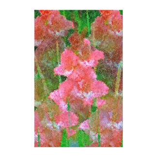 Sueños del gladiolo lienzo envuelto para galerías