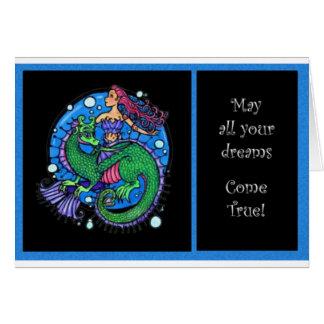 Sueños del mar tarjeta de felicitación