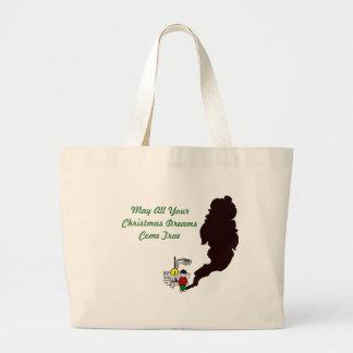 Sueños del navidad bolsa de mano