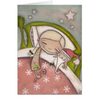 Sueños del navidad - tarjeta de felicitación
