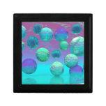 Sueños del océano - aguamarina y fantasía violeta  cajas de joyas