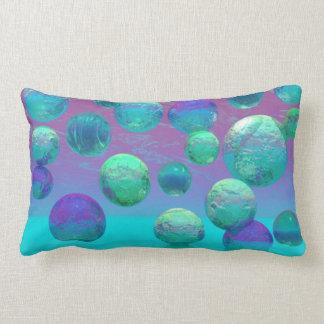 Sueños del océano - aguamarina y fantasía violeta  cojin