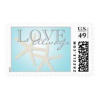 Sueños del océano de las estrellas de mar timbres postales