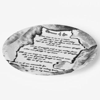 Sueños del pecado plato de papel de 9 pulgadas