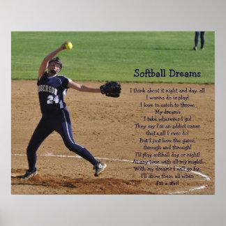 Sueños del softball impresiones