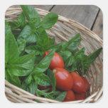 Sueños del tomate y de la albahaca etiqueta