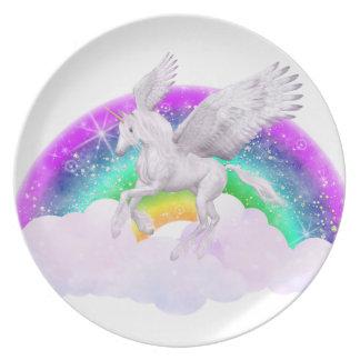 Sueños del unicornio platos para fiestas