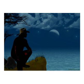 Sueños del vaquero tarjeta postal