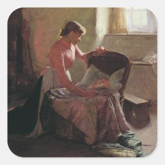 Sueños dulces, 1892 pegatina cuadrada