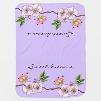 Sueños dulces de la lila del país mantita para bebé