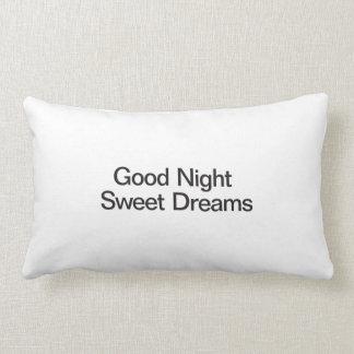 Sueños dulces de las buenas noches cojin
