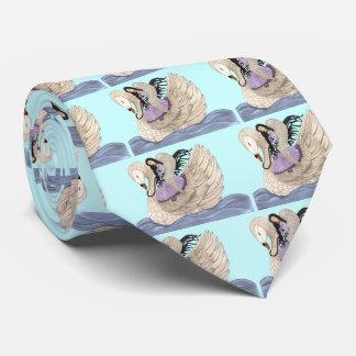 Sueños dulces (el ángel y el cisne) (a todo color) corbata personalizada