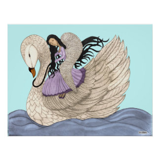 Sueños dulces (el ángel y el cisne) (a todo color) poster