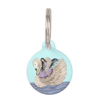 Sueños dulces (el ángel y el cisne) (a todo color) placas de mascota