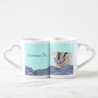 Sueños dulces (el ángel y el cisne) (a todo color) tazas para parejas