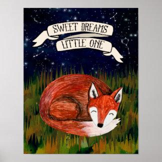 Sueños dulces el pequeño - arte del cuarto de