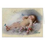 Sueños dulces, en blanco tarjetas