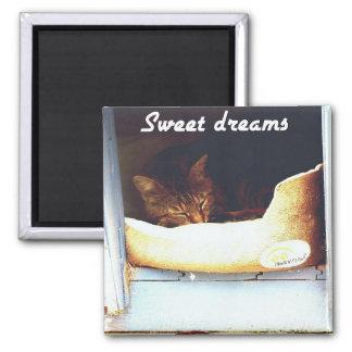 sueños dulces imán cuadrado