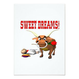 """Sueños dulces invitación 5"""" x 7"""""""
