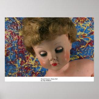 Sueños dulces, muñeca poster