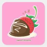Sueños dulces pegatina cuadrada
