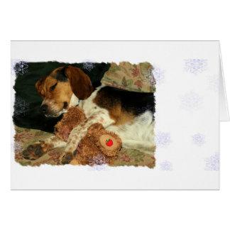 Sueños dulces - perro del beagle Snoopy Tarjeta De Felicitación