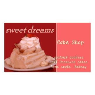sueños dulces tarjetas de visita
