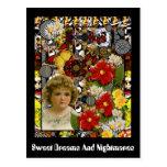 Sueños dulces y pesadillas tarjeta postal