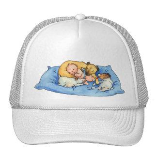 Sueños en la cama del perro - casquillo lindo gorros