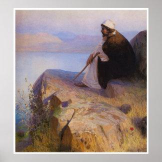 Sueños en un poster de Jesús de la colina