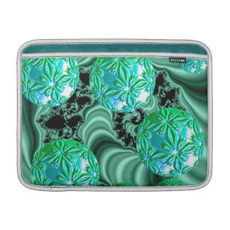 Sueños esmeralda del satén - trébol irlandés abstr fundas para macbook air