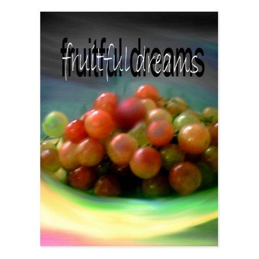 sueños fructuosos postales