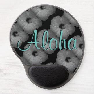 Sueños hawaianos en blanco y negro alfombrilla de raton con gel