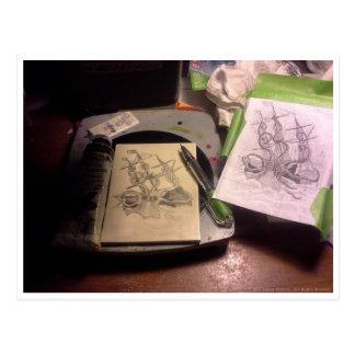 Sueños modernos de la talla - Kraken 2 Tarjetas Postales