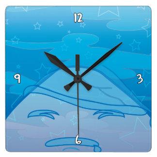 ¡Sueños monocromáticos! Reloj Cuadrado