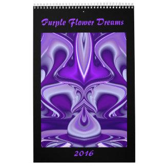 Sueños púrpuras de la flor calendario