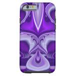 Sueños púrpuras de la flor funda para iPhone 6 tough