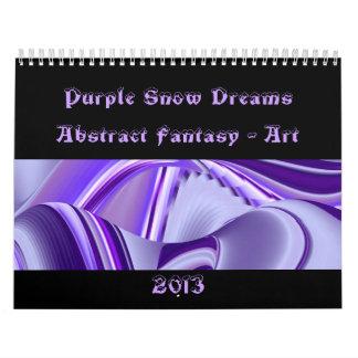 Sueños púrpuras de la nieve - Fantasía-Arte Calendario