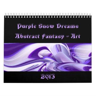Sueños púrpuras de la nieve - Fantasía-Arte Calendario De Pared