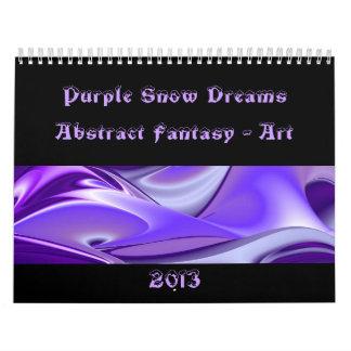 Sueños púrpuras de la nieve - Fantasía-Arte Calendarios De Pared