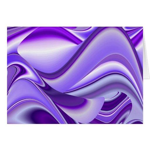 Sueños púrpuras de la nieve, Fantasía-Arte Tarjeta De Felicitación