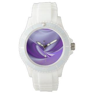 Sueños púrpuras reloj de mano